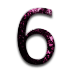 073139-pink-black-cherry-blossom-festival-icon-alphanumeric-number-6